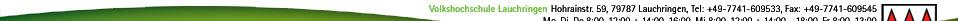 Gemeindeverwaltung Lauchringen - Hohrainstr. 59, 79787 Lauchringen, Tel: +49-7741-60950, Fax: +49-7741-609543 - Mo, Di, Do 8:00-12:00 + 14:00-16:00, Mi 8:00-12:00 + 14:00 - 18:00, Fr 8:00-13:00